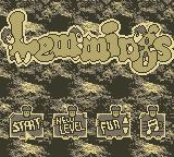 Lemmings Game Boy Title Screen
