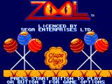 Zool SEGA Master System Title screen