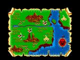 Lord of the Sword SEGA Master System Your map