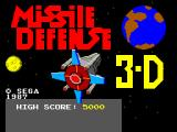 Missile Defense 3-D SEGA Master System Title screen