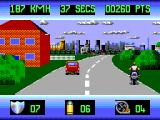 OutRun Europa SEGA Master System You lose your shield points if you damage your bike too much