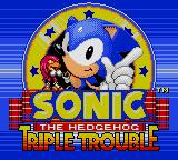 Sonic the Hedgehog: Triple Trouble Game Gear Title Screen