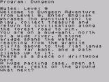 Dungeon Adventure ZX Spectrum Stating position