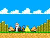 Astérix and the Secret Mission SEGA Master System Intro: Panoramix the Druid giving Astérix some magic potion...