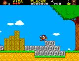 As Aventuras da TV Colosso SEGA Master System Gilmar breaking stone blocks.