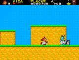 As Aventuras da TV Colosso SEGA Master System That flea won't go much further once Gilmar pushed that block from that ledge.