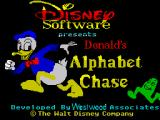 Donald's Alphabet Chase ZX Spectrum Loading screen