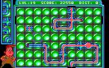 Pipe Dream DOS Level 19, which sports a nifty looking green tiled background.