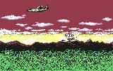 Metal Gear Commodore 64 Here comes Snake parachuting.