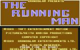 The Running Man Commodore 64 Title screen.