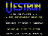 Vestron MSX Title screen