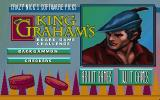 Crazy Nick's Software Picks: King Graham's Board Game Challenge DOS Title screen / Main menu