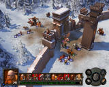 Heroes of Might and Magic V: Hammers of Fate Windows Dwarven fortress is under attack.