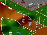 "Super Skidmarks Genesis A starting grid on ""Rally Racing"""