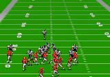Madden NFL '94 Genesis A bad defensive play, with the defense pushing to the left, while the Half-Back prepares to make his move to the right