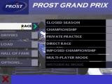 Prost Grand Prix 1998 DOS Mode selection