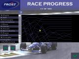Prost Grand Prix 1998 DOS Race progress screen.