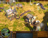 Age of Empires III: The WarChiefs Windows Destroying the Hessian base.