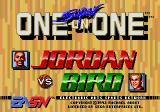 Jordan vs Bird: One on One Genesis Title screen
