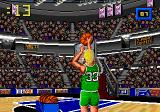 Jordan vs Bird: One on One Genesis The camera changes depending on the position.