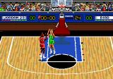 Jordan vs Bird: One on One Genesis Bird blocks a shot inside the paint.