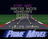 Prime Mover Amiga Main menu