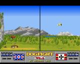 Dogfight Amiga The red pilot has reached the enemy airfield, but player 1 manages to escape