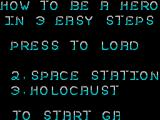How to be a Hero ZX Spectrum Level 1's title (Egyptian) is obscured