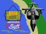 Strike Force Harrier MSX Loading screen (MSX1)