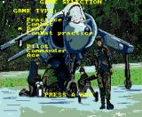 Strike Force Harrier MSX Main menu (MSX2)