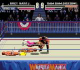 WWF WrestleMania Genesis Bam Bam makes a mess out of Bret Hart