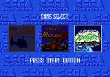 Mega Games 3 Genesis Game selection screen
