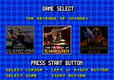 Mega Games 6 Vol. 1 Genesis Game selection screen