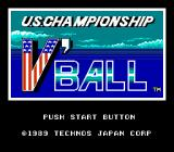 Super Spike V'Ball NES Title screen (Japanese version.)