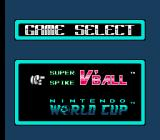 Super Spike V'Ball / Nintendo World Cup NES You have to choose which game you want to play when you load the game.