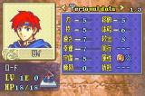 Fire Emblem: Fūin no Tsurugi Game Boy Advance This is the initial stats of Roy, your main protagonist