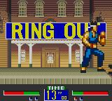 Virtua Fighter Animation Game Gear Falling out of the ring makes the fighter lose that round.