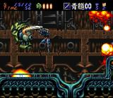 Hagane: The Final Conflict SNES Self-scrolling level, don't fall into the pits!