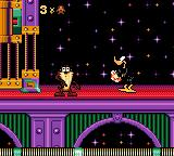 Taz in Escape from Mars Game Gear Taz meets Daffy Duck.