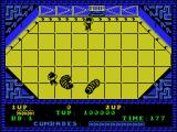 Alien Syndrome MSX Killed by the maggot-aliens