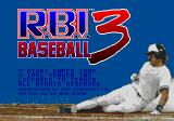 R.B.I. Baseball 3 Genesis Title screen