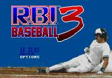 R.B.I. Baseball 3 Genesis Main menu