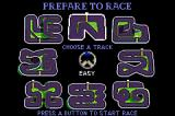 Spy Hunter / Super Sprint Game Boy Advance Super Sprint - selecting a track.