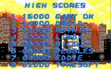Beverly Hills Cop DOS Highscores featuring the lead programmers.