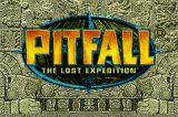 Pitfall: The Lost Expedition Game Boy Advance Title screen