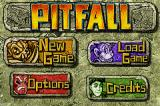 Pitfall: The Lost Expedition Game Boy Advance Main menu