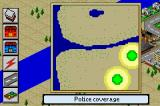 SimCity 2000 Game Boy Advance Police coverage is low.