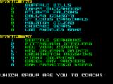 Grid Iron 2 ZX Spectrum Choose your team