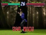 Tekken 2 PlayStation Lei's winning pose.