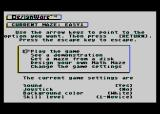 Math Maze Atari 8-bit The main menu